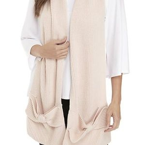NWT Kate Spade Bow Accent Knit Muffler Scarf